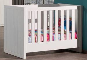 VIPACK Robin Babybett Weiß 60x120cm ROBB6014