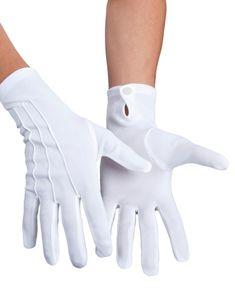 Baumwoll-Handschuhe weiß mit Drucker, Größe:S