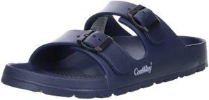 ConWay MISTRAL Herren Badeschuhe Latschen Sandalen Pantoletten blau, Größe:42, Farbe:Blau