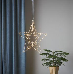 "Star Trading LED-Leuchtstern ""Triple"", Stern, silber"
