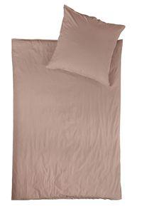 jilda-tex Linon Bettwäsche 100% Baumwolle 135x200 cm mit Reißverschluss (Riga - Rosa)