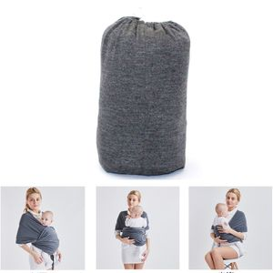Babytrage,Tragetuch - elastisches Babytragetuch für Früh-  . Baby Wrap Carrier Anleitung - Farbe grau