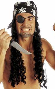 Schwarze Locken Piraten Perücke Horror Halloween Karneval