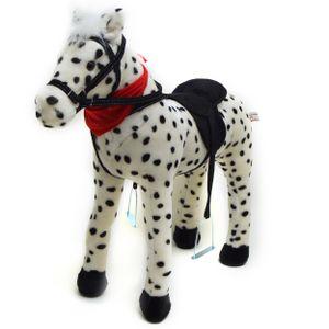 """Pink Papaya Stehpferd """"Jolly"""" 75 cm Pony bis 100 kg belastbar mit Sound und Steigbügeln"""