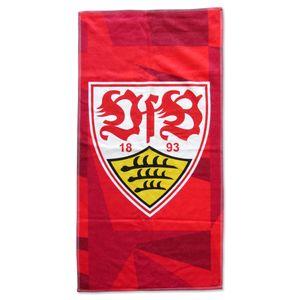 VfB Stuttgart Duschtuch Wappen rot 19265 70x140cm mit großem Wappen Fanartikel