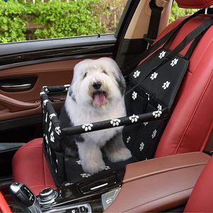 NightyNine Hunde Autositz Tragbarer Faltbarer Hundesitz Haustier-Booster-Autositz Mit Aufsteckbarer Sicherheitsleine und Faserstützstange, Anti-Kollaps, Hundeautositz Perfekt für Kleine Haustier