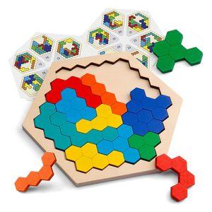 Holzpuzzle Wabenpuzzle, Brettspielzeug, Puzzle