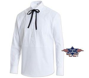 Cowboy Westernhemd Joseph Rodeo weiß Stars & Sripes old style Hemd Western XL - 54/56