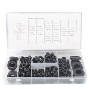 Metric Gummi Durchgangstüllen Durchführungsstüllen Sortiment Gummitülle 180 tlg
