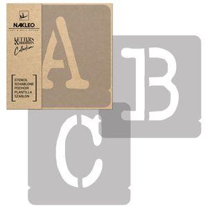 Buchstaben&Zahlen Schablonen / 100mm Typewriter Große / Alphabet Schriftzug Vorlage