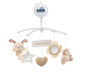 CAM Mobile GIOSTRINA Mechanische Spieluhr mit Plüschfiguren | Viele Spielmöglichkeiten | Für das Beistellbett Cullami