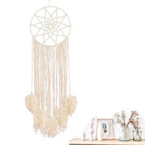 Dreamcatcher Handgefertigt, Großer Boho Traumfänger mit Makramee Wandbehang Ornament für Baby Shower Car Hochzeit Home Schlafzimmer Wohnzimmer Dekoration