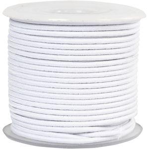 Elastikschnur, Weiß, Stärke: 2 mm, 25 m/ 1 Rolle