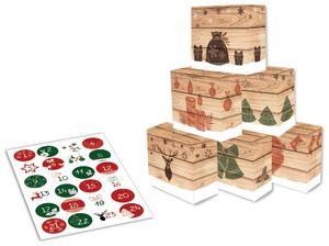 "ROTH Adventskalender 24 Adventsboxen ""Hygge-Style"" zum selbst Befüllen"