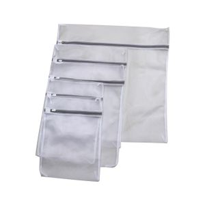 RAIKOU Wäschenetz für Waschmaschine 5 Stück Set grobmaschige Wäschesack Wäschetasche Waschbeutel mit Reißverschluss, Aufbewahrung und Reise