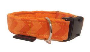 Fellschonendes Hundehalsband Verarbeitung hochwertige Materialien Orange XL/Breite-3 cm Halsumfang-61-80 cm