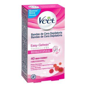 Veet Easy Gelwax Wachsstreifen Normale Haut (40er Pack)