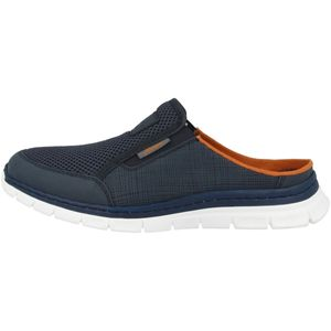 rieker Herren Slipper Blau Schuhe, Größe:44