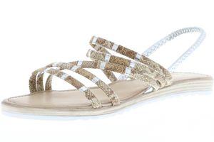 Vista Damen Sandaletten Schlangenoptik, Größe:40, Farbe:Mehrfarbig