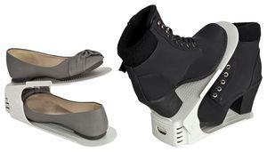 Verstellbarer Schuhstapler / Schuhhalter - Sparset für 8 Paar Schuhe, Farbe:schwarz
