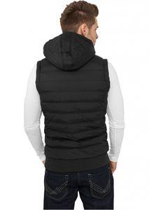 Urban Classics Small Bubbled Hooded Vest, Größe: L; Farbe: Black/White