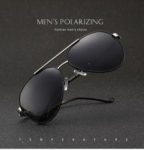 Polizei Aluminium Herren Sonnenbrille Polarisiert Fahren Uv400 Schutz Pilotenbrille-Schwarz und Silber