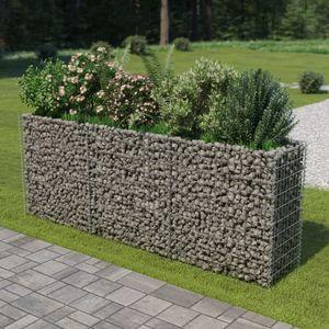 anlund Gabionen-Hochbeet Verzinkter Stahl 270×50×100 cm