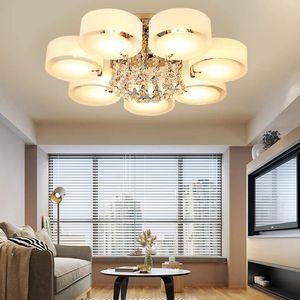 Kronleuchter Kristall Deckenleuchte Moderne LED Deckenlampe Hängeleuchte 7Flammig Deckenbeleuchtung Wohnzimmer Schlafzimmer Lamp Decor