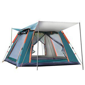 MECO 3-4 Personen Pop-up Camping Zelt, Wasserdicht & Winddicht Wurfzelt für Trekking Camping Outdoor 215*215*142cm, Grün