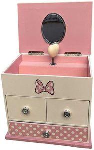 Kids Licensing schmuckschatulle Minnie Mouse 16,5 cm Holz rosa/weiß