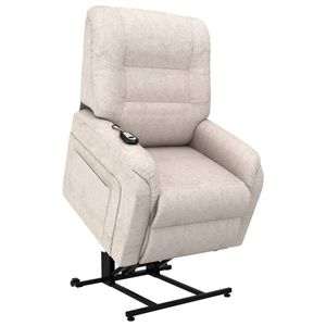 vidaXL TV-Sessel mit Aufstehhilfe Elektrisch Creme Stoff