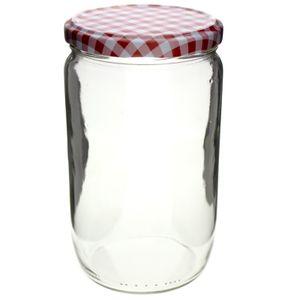 12 x Einmachgläser mit Deckel 720 ml für Marmelade, Früchte, Wurst und Gemüse Einkochgläser Sturzgläser