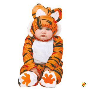 Baby Kostüm Tiger Ted, Overall Raubtier, Größe:80/92