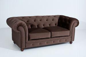 Max Winzer Orleans Sofa 2-Sitzer - Farbe: braun - Maße: 196 cm x 100 cm x 77 cm; 2911-2100-2044201-F07