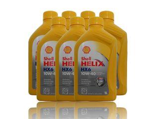 Shell Helix Ultra HX6 10W-40 7x1 Liter