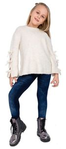 GKA Kinder Jeans Leggings Gr. 134/140 blau Jeggings Hose weich Mädchen