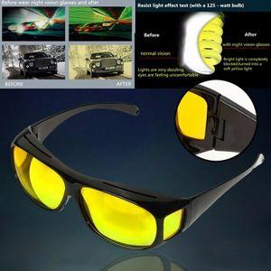 Nachtsichtbrille Auto Fahren Kontrastbrille Überziehbrille HD Sonnenbrille Sunglass mit Sonnenbrillen Box