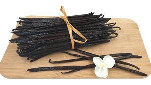 Vanille Florika 10 Stück echte Vanilleschoten 18-23 cm Gourmet Qualität   100% natürlich   Güteklasse 1   aus Mexiko der Heimat der Vanille