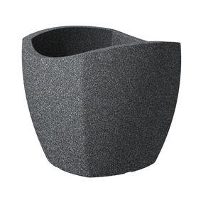 Scheurich 256/50 Übertopf Wave Globe Cubo Schwarz Granit - 49,4 cm x 49,4 cm x 44,5 cm; 55361