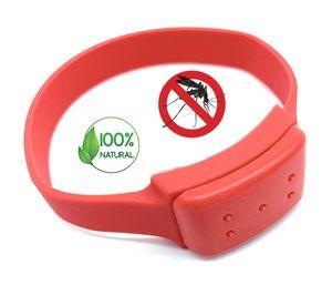 Premium Insektenschutz Anti-Mücken Armband Rot   100% natürliche Öle - DEET frei   Mückenarmband Moskito Mückenschutz   Schutz gegen Mosquito Indoor Outdoor   für Erwachsene und Kinder Camping Angeln