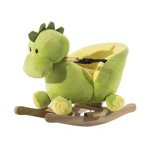 HOMCOM Schaukeltier Schaukelpferd Kinder Schaukel Drache Spielzeug mit Musik für Kinder ab 18 Monate(Schaukeldrache)