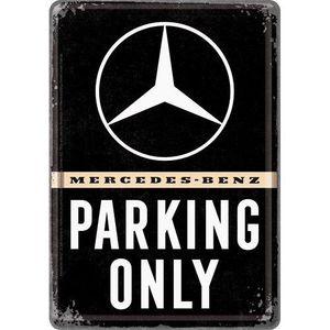 Nostalgic-Art - Mini-Blechschild Blechpostkarte 10x14cm - Mercedes Parking Only
