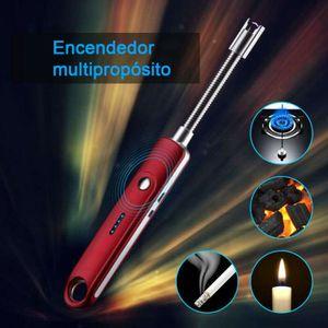 USB Feuerzeug Lichtbogen Elektrisch Camping BBQ Feuerzeug Stabfeuerzeug Rot