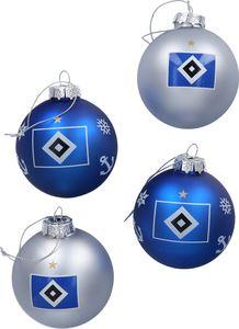 HSV Christbaumkugeln 4er Hamburger SV