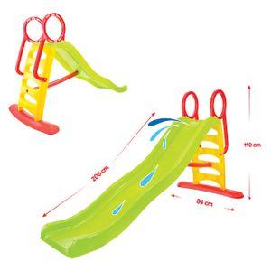 Mochtoys Kinderrutsche und Wasserrutsche 11557 Rutschlänge 205 cm bis 50 kg in grün
