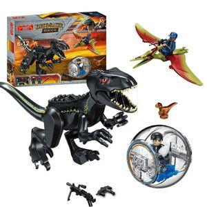 Großes Jurassic Park Set Spielzeug Rex Indominus Dinosaurier Figur Bausteine,Tierfiguren,77057