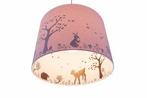 Waldi Pendelleuchte rosa Silhouette Reh 1-flg., 70752.0