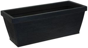 Pflanztrog 100x40 cm in anthrazit mit Rillen (DHL)