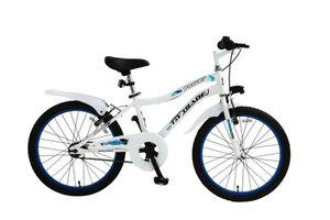 20 ZOLL Kinder Jungen Fahrrad Kinderfahrrad Kinder Rad Bike BMX BELEUCHTUNG RÜCKTRITTBREMSE POWER WEISS WEIß