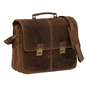 Greenburry Vintage 1728-25 Leder Messenger Aktentasche für Herren